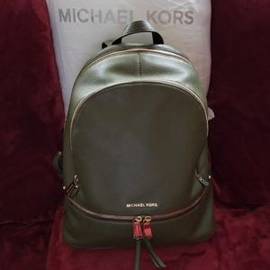 Michael Kors Medium Rhea Leather Backpack